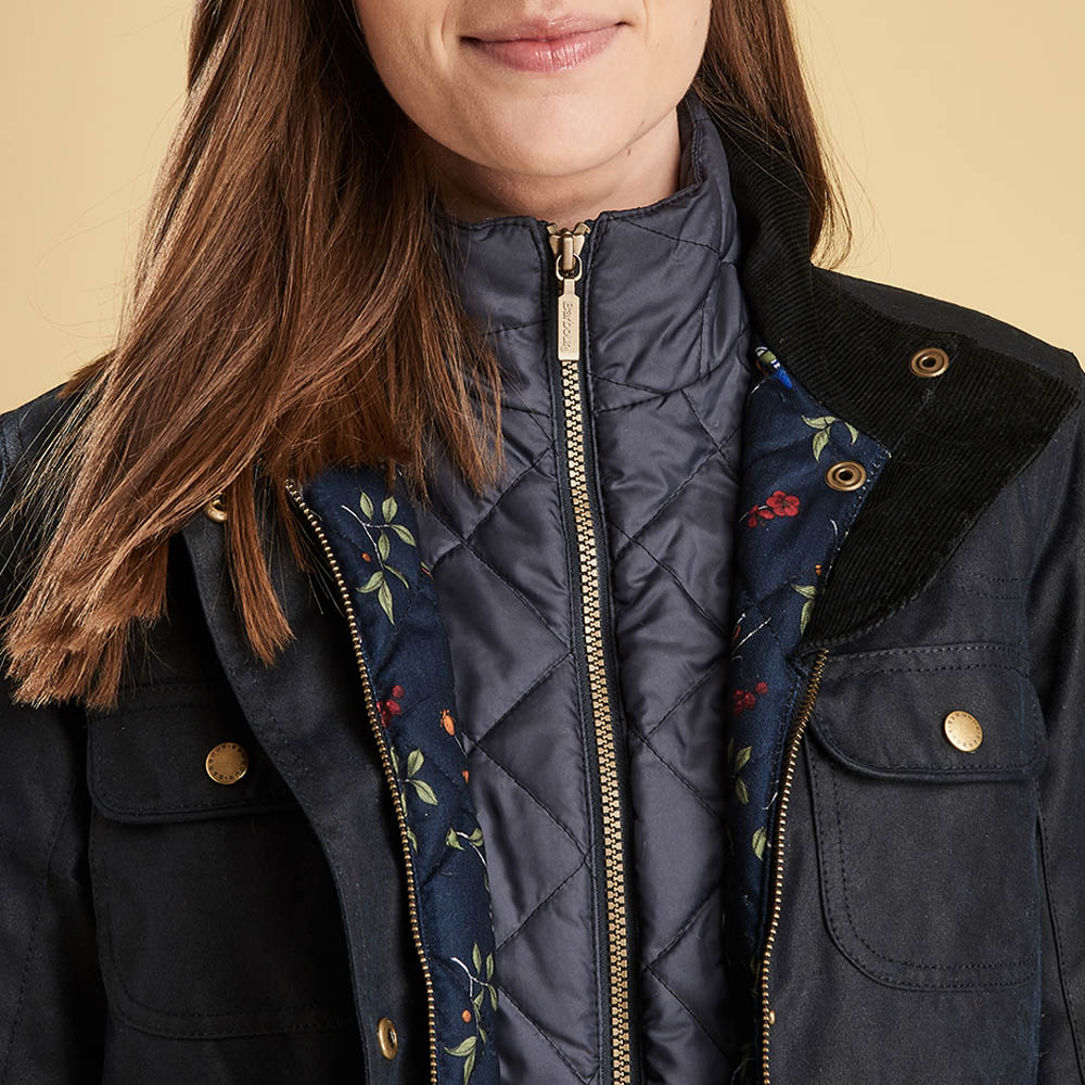 Barbour Chaffinch Waxed Cotton Jacket Navy