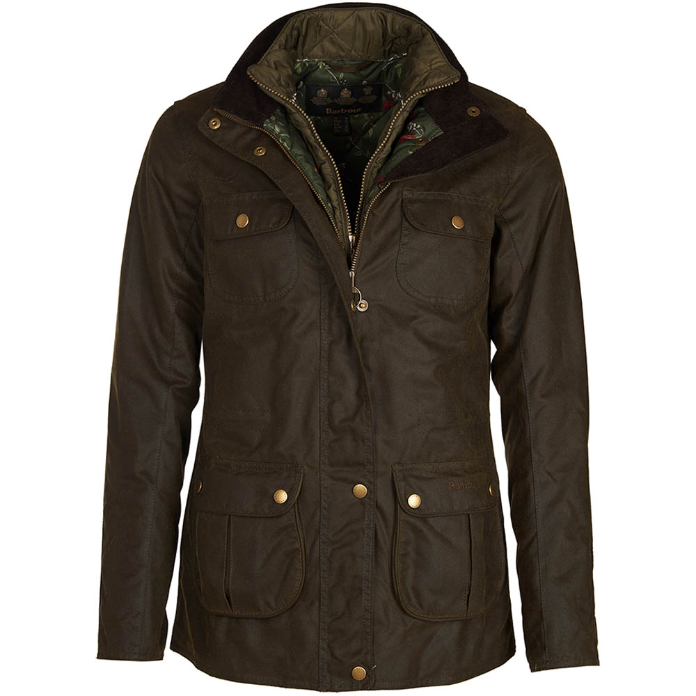 Barbour Barbour Chaffinch Waxed Cotton Jacket Olive Barbour International
