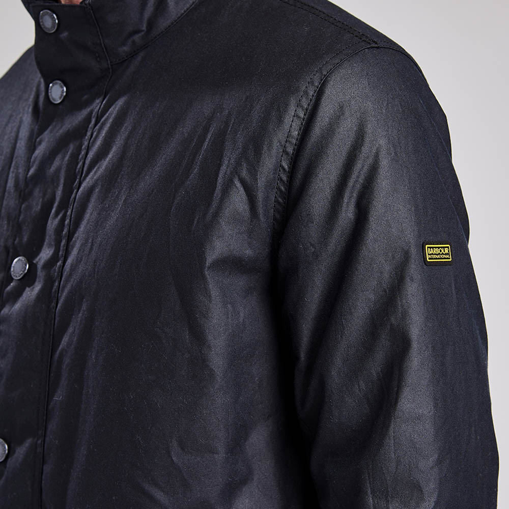 Barbour Intl Armour Waxed Cotton Jacket Navy