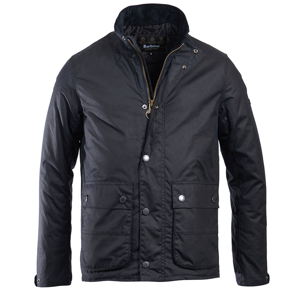 Barbour Intl Armour Waxed Cotton Jacket Navy Barbour International