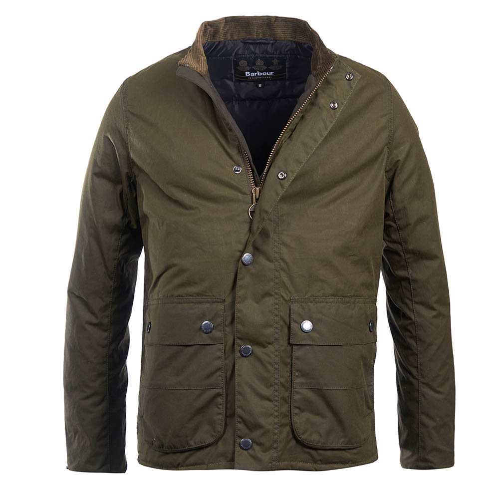Barbour Barbour Intl Armour Waxed Cotton Jacket Olive Barbour International