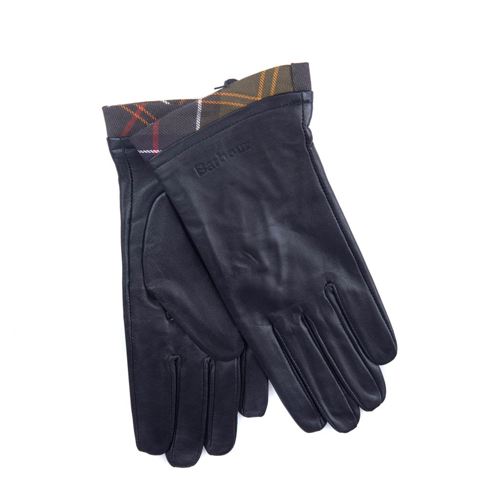 Barbour Barbour Tartan Trimmed Leather Gloves Barbour Lifestyle: From the Classic collection