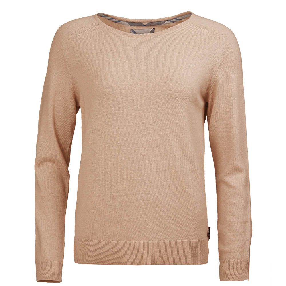 Barbour Pendle Crew Neck Sweater Camel