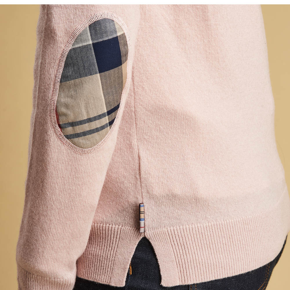 Barbour Pendle Crew Neck Sweater Pink