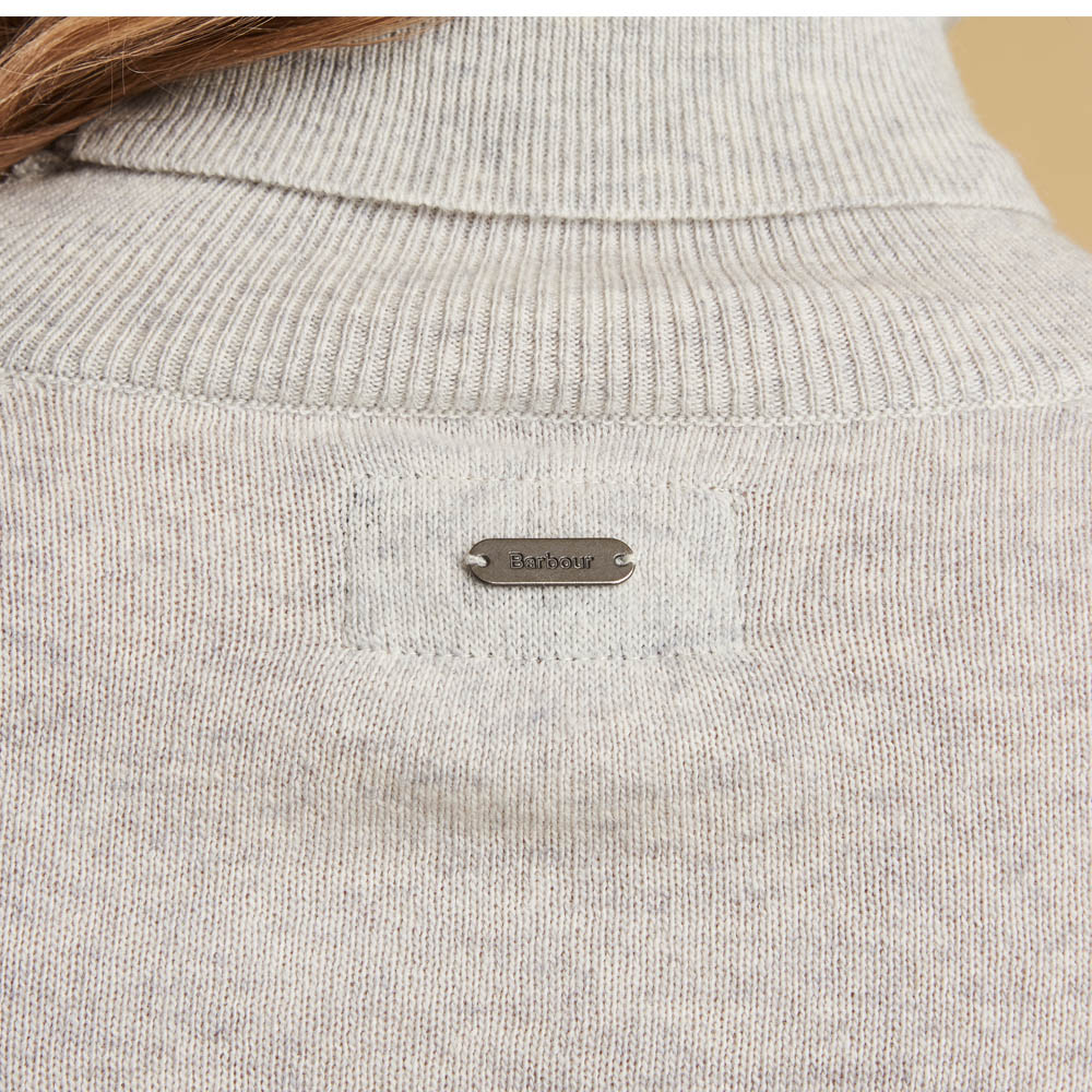 Barbour Pendle Roll Collar Sweater Grey