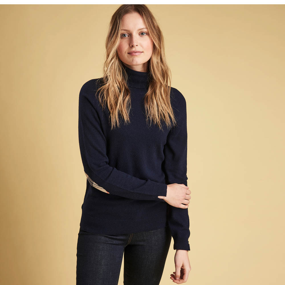 Barbour Pendle Roll Collar Sweater Navy