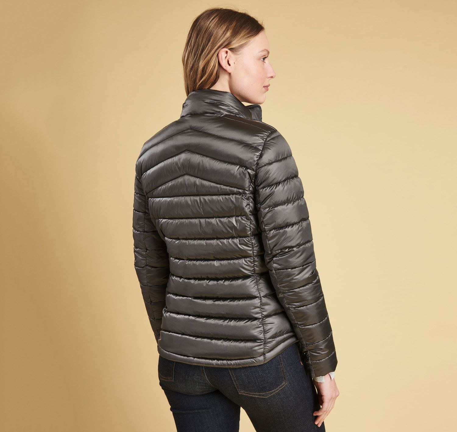 Barbour Vartersay Quilted Jacket Ash grey
