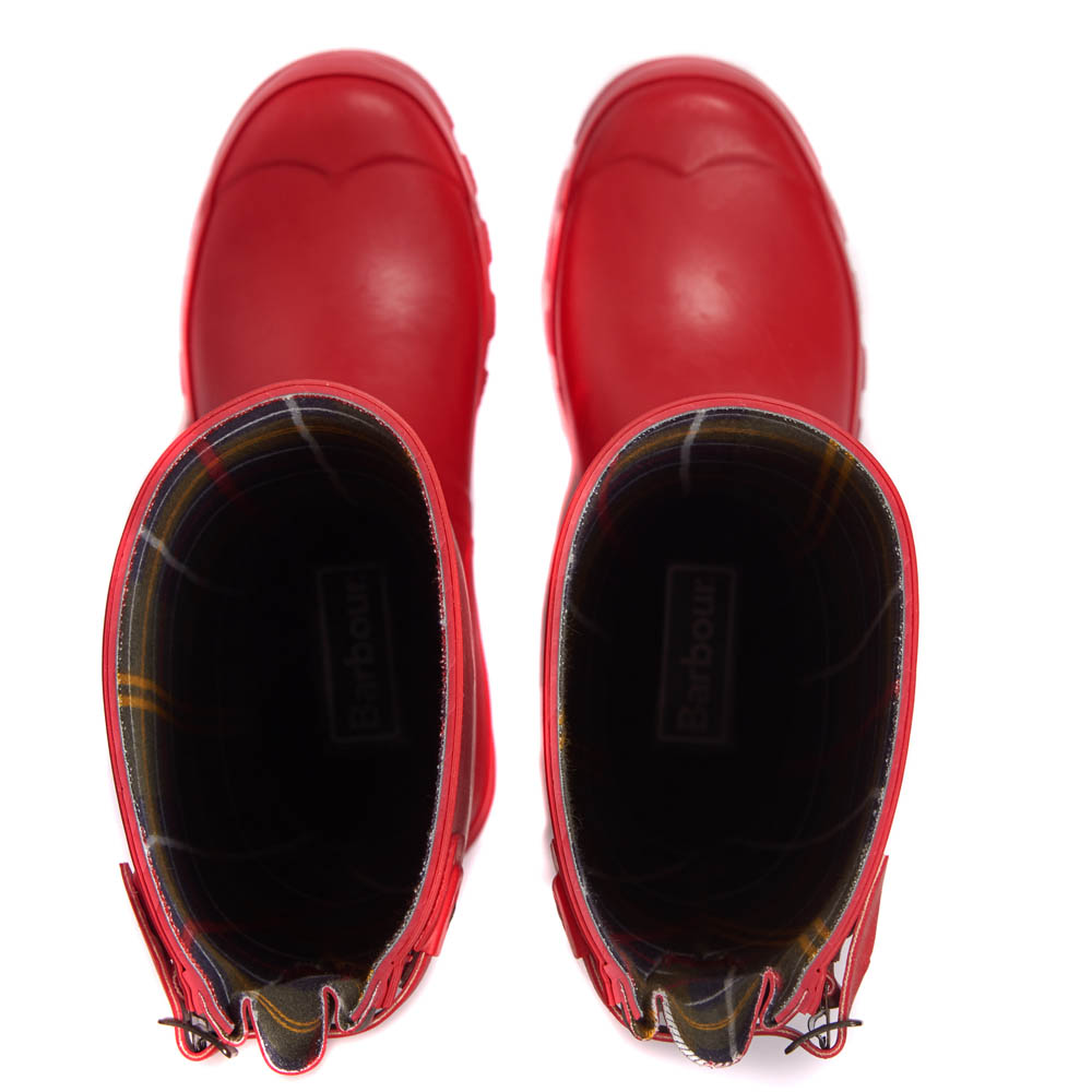 Barbour Jarrow Wellington Boots Red