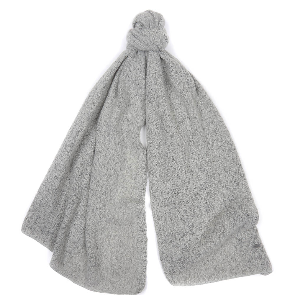 Barbour Plain Boucle Scarf Ash Grey