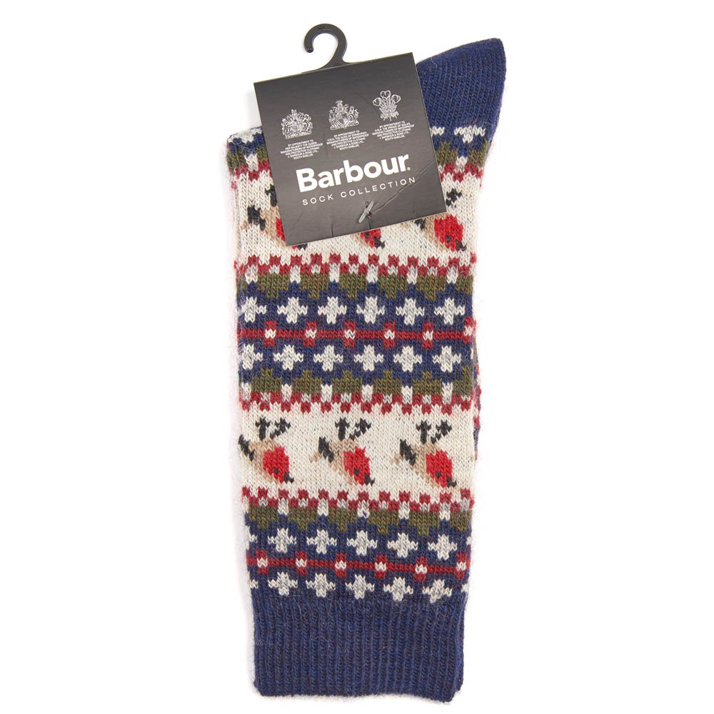 Barbour Robin Fairisle Socks Navy