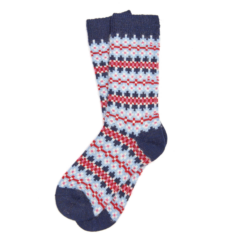 Barbour Seaton Fairisle Socks Navy