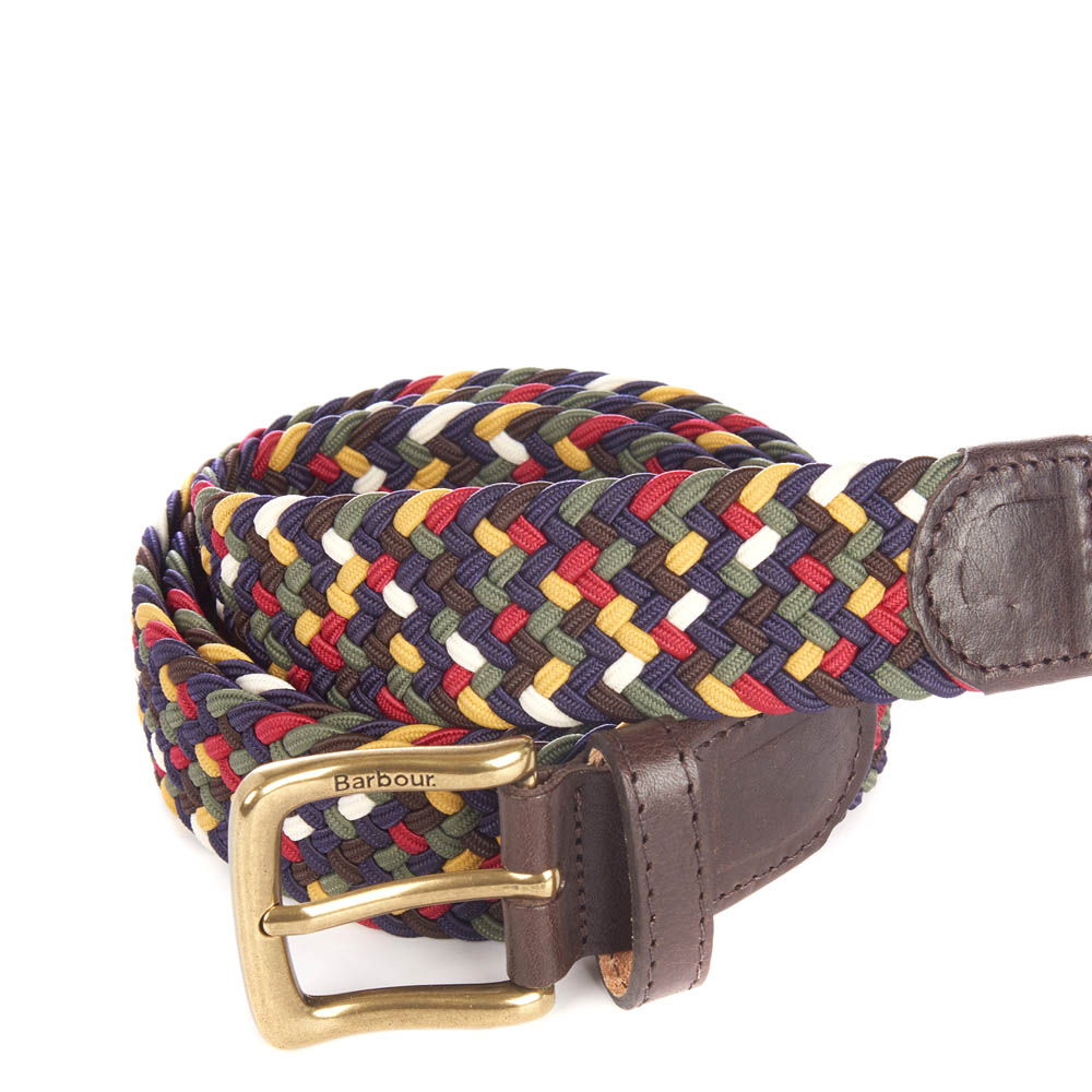 Barbour Barbour Tartan Coloured Stretch Belt In Gift Box Classic