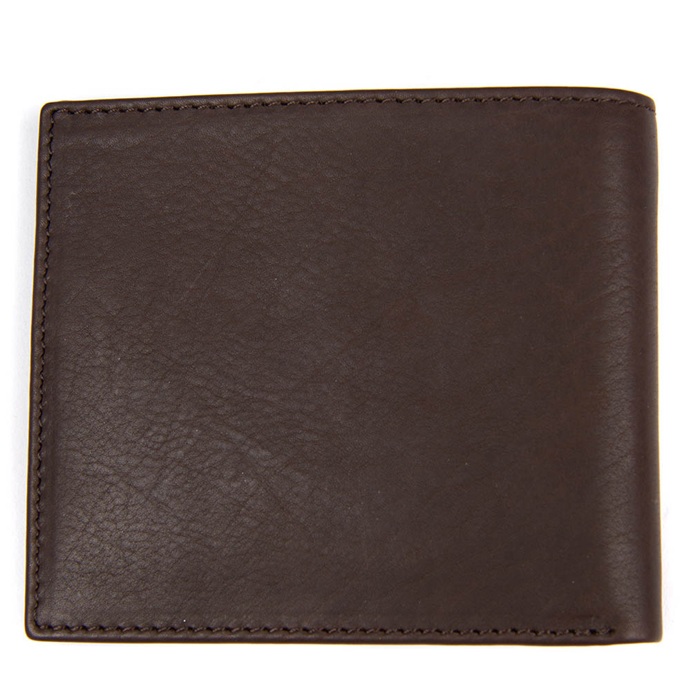Barbour Leather Billfold Wallet Brown
