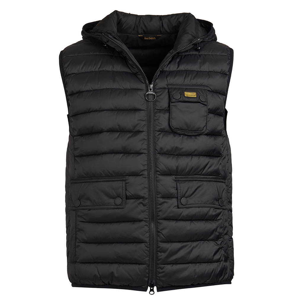 B.Intl Ousten Hooded Gilet Black