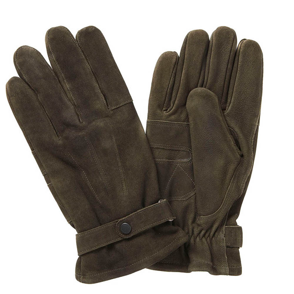 Barbour Barbour Leather Thinsulate Gloves Olive