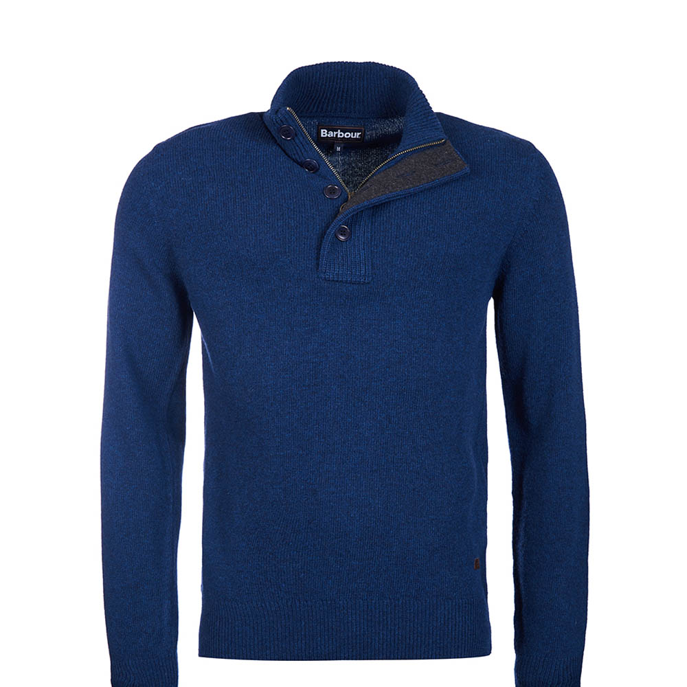 Barbour Patch Half Zip Jumper Deep blue Barbour Lifestyle: from the Core Essentials Collection