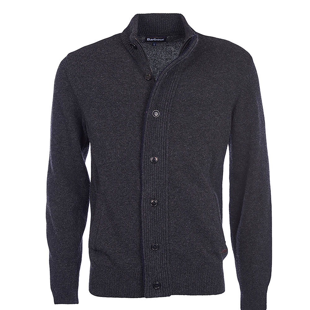 Barbour Patch Zip Thru Jumper Charcoal