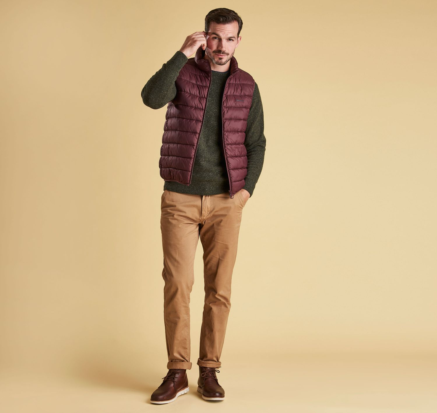 Barbour Tisbury Crew Neck Sweater Forest