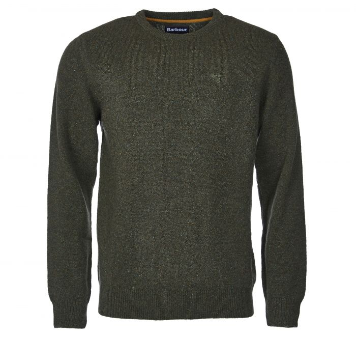Barbour Tisbury Crew Neck Sweater Forest Barbour Lifestyle