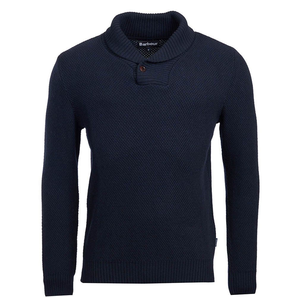 Barbour Honeycomb Shawl Neck Sweater Navy Barbour Lifestyle: from the Classic capsule