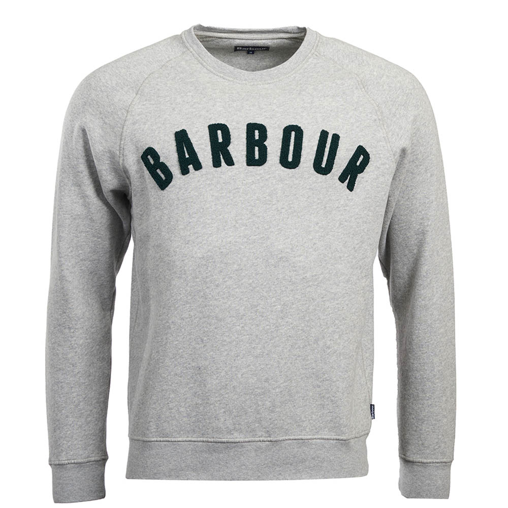 Barbour Prep Logo Crew Neck Sweater Grey Barbour Lifestyle