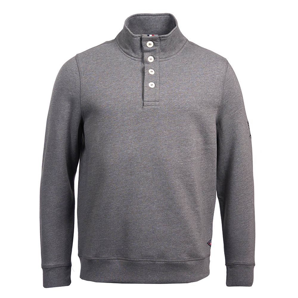 Barbour Wrench Half Sweater Grey Barbour International: from the Steve McQueen Collection