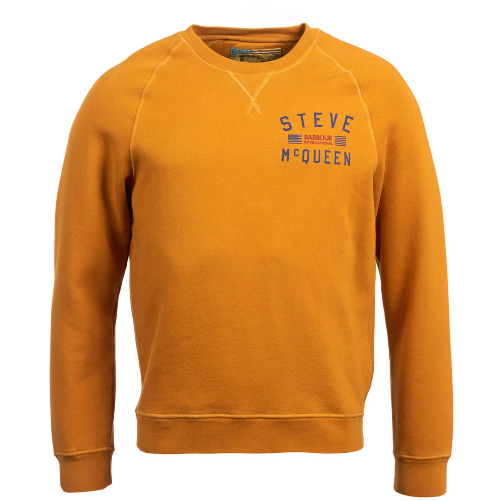 Barbour Voxan Crew Neck Sweater Copper Barbour International: from the Steve McQueen Collection
