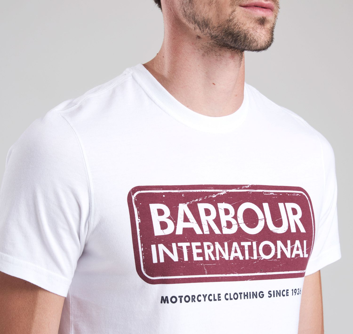 Barbour International Logo Tee White