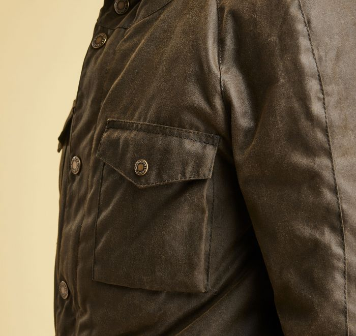 Barbour Coll Waxed Cotton Jacket Olive