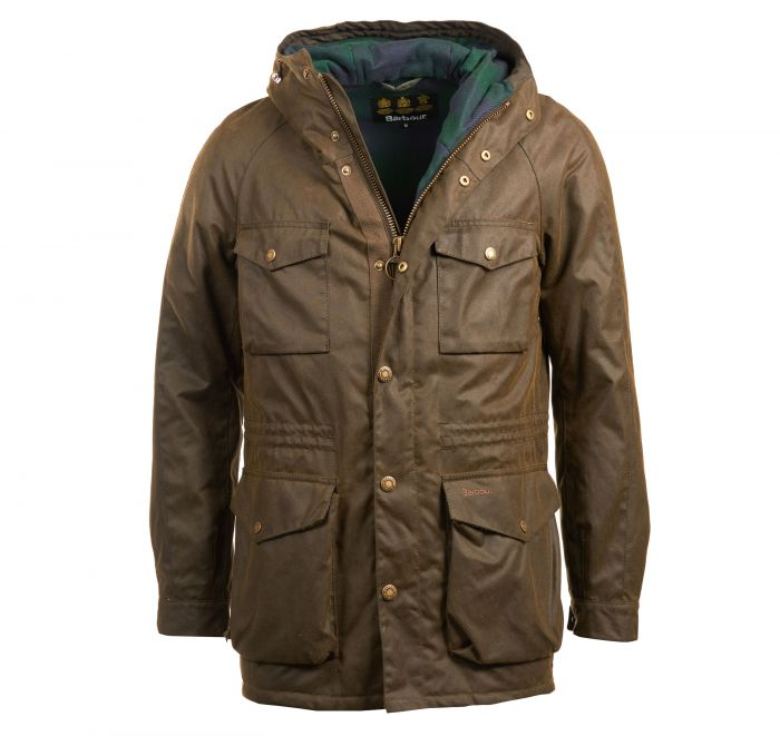 Barbour Coll Waxed Cotton Jacket Olive Barbour International