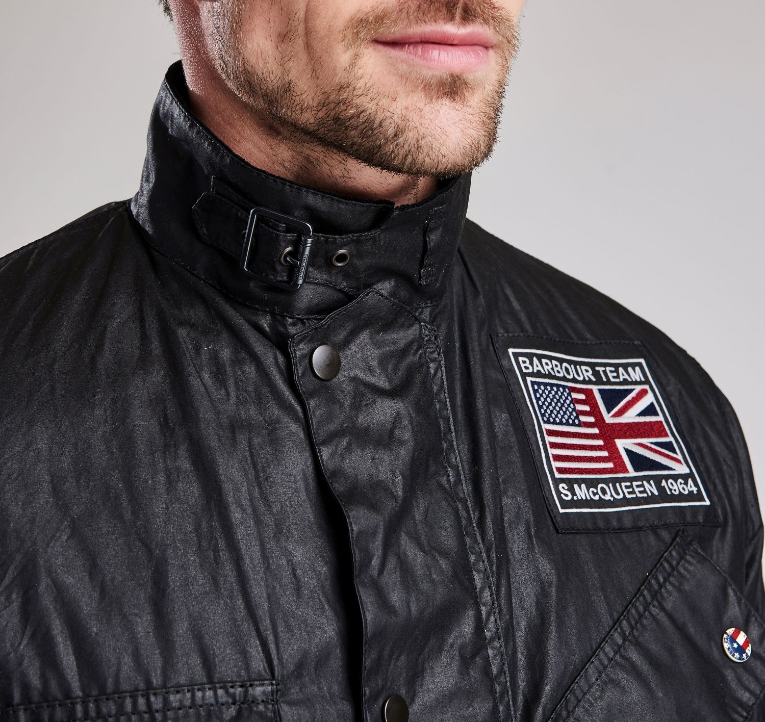 Barbour Intl Joshua Waxed Cotton Jacket Black