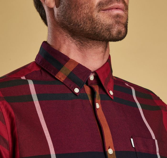 Barbour Dunoon Tailored Shirt Red