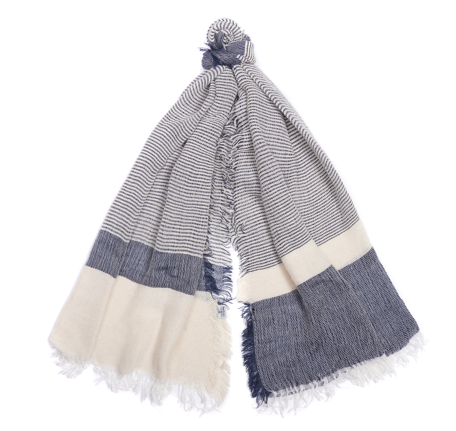 Barbour Whitmore Wrap Scarf Chambray Barbour Lifestyle: From the Summer Dress Tartan collection