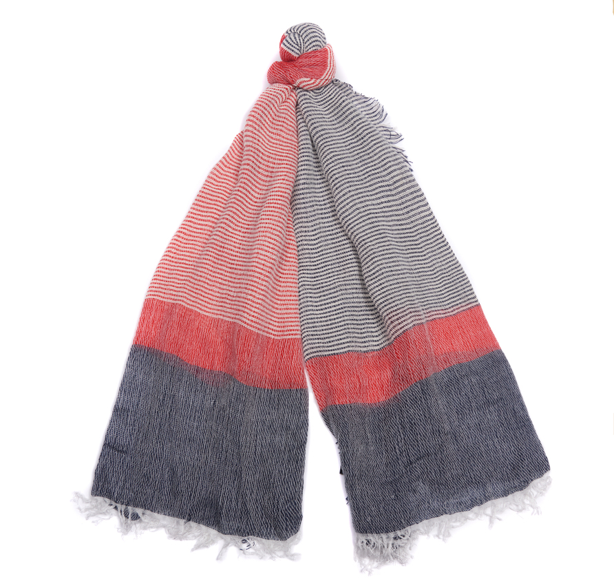 Barbour Whitmore Wrap Scarf Navy