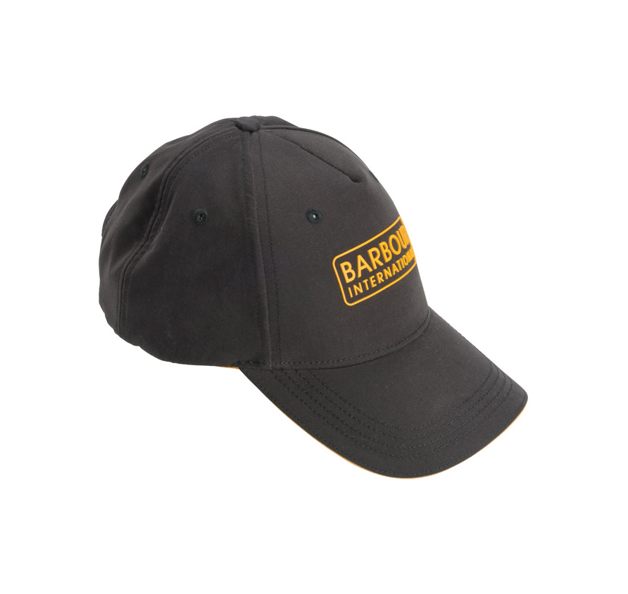 Barbour Hudson Sports Cap Black Barbour International: From the Black & Yellow collection