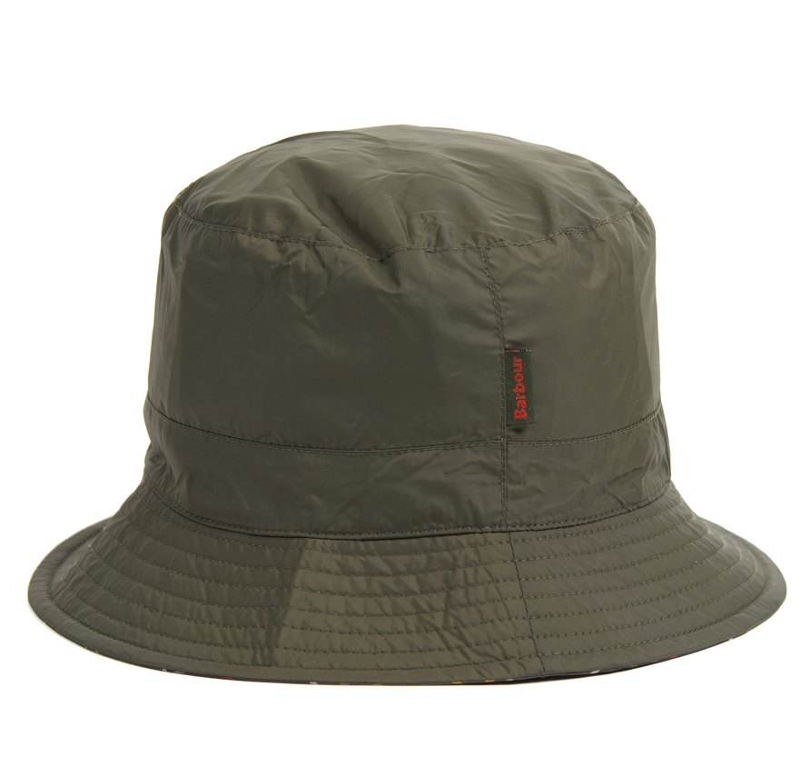 Barbour Waterproof Reversible Hat Olive