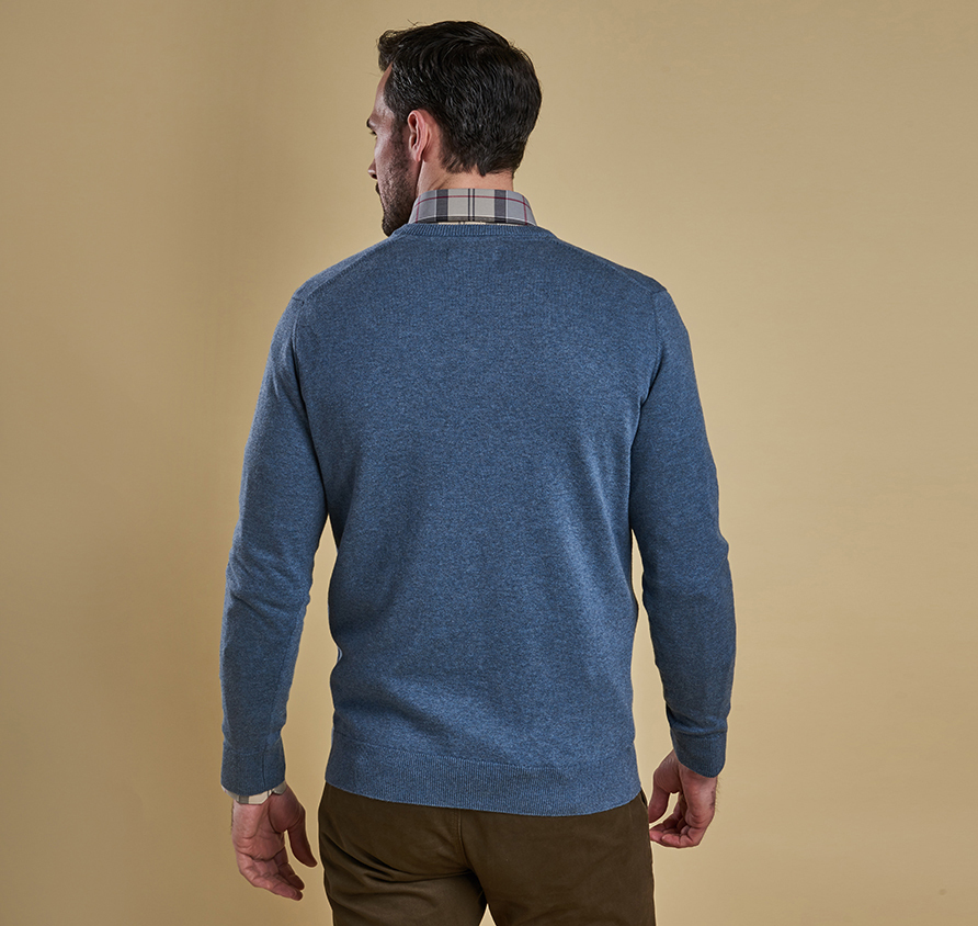 Pima Cotton V Neck Chambray