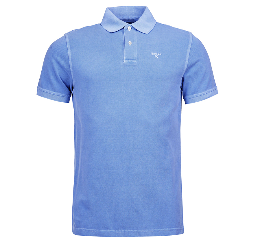 Barbour Washed Sports Polo Shirt Sky Barbour Lifestyle: From the Core Essentials collection