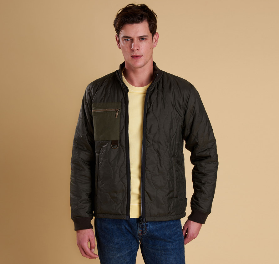 Barbour Cast Quilted Jacket Olive Slim