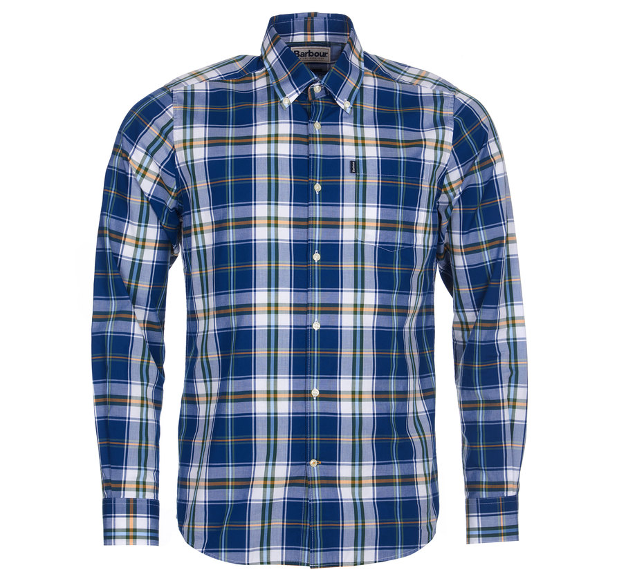 Barbour Jeff Tailored Shirt Deep Blue
