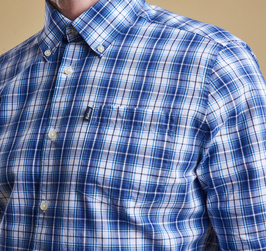 Barbour Leo Tailored Shirt Blue