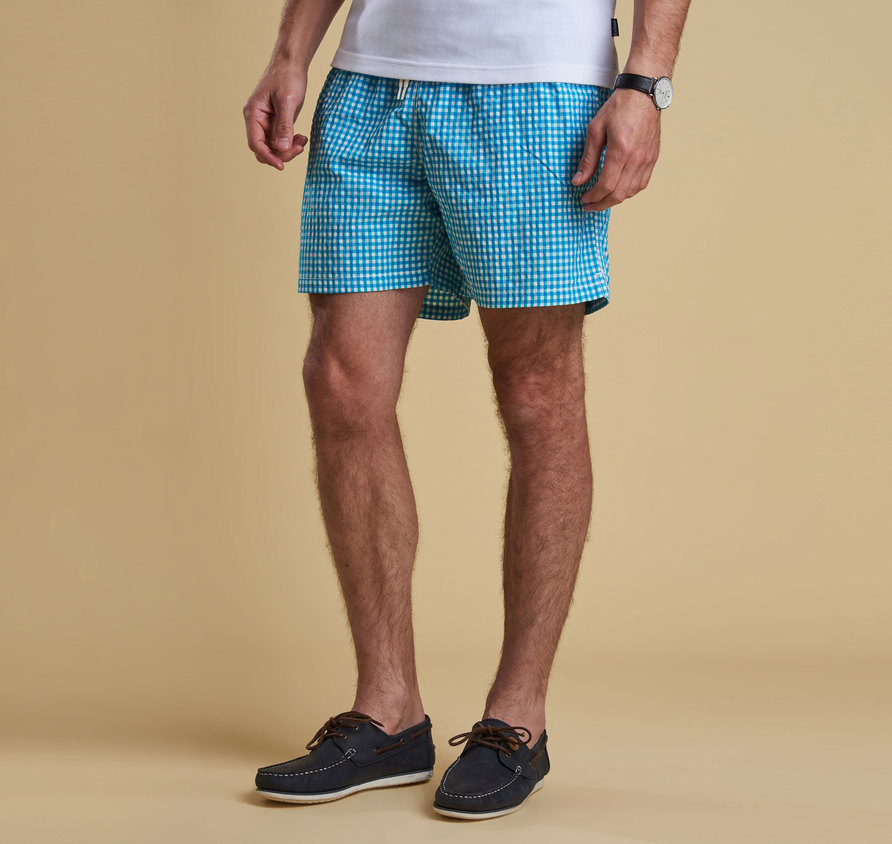 Barbour Gingham Swim Short Agua