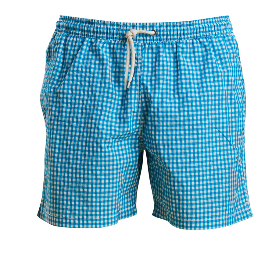 Barbour Barbour Gingham Swim Short Agua