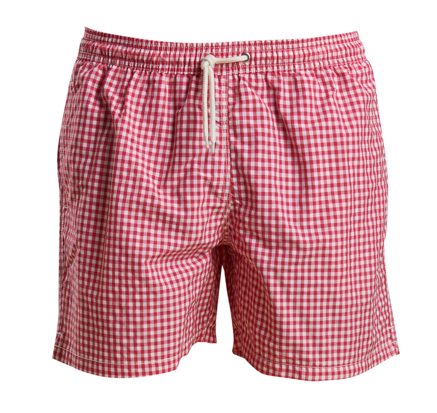Barbour Gingham Swim Short Pink