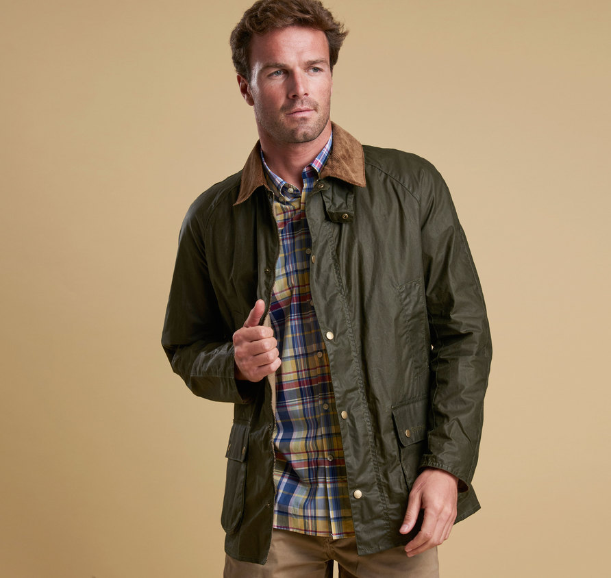 Barbour Lightweight Ashby Wax Jacket Olive