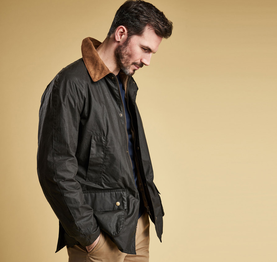 Barbour Lightweight Ashby Wax Jacket Dark Olive