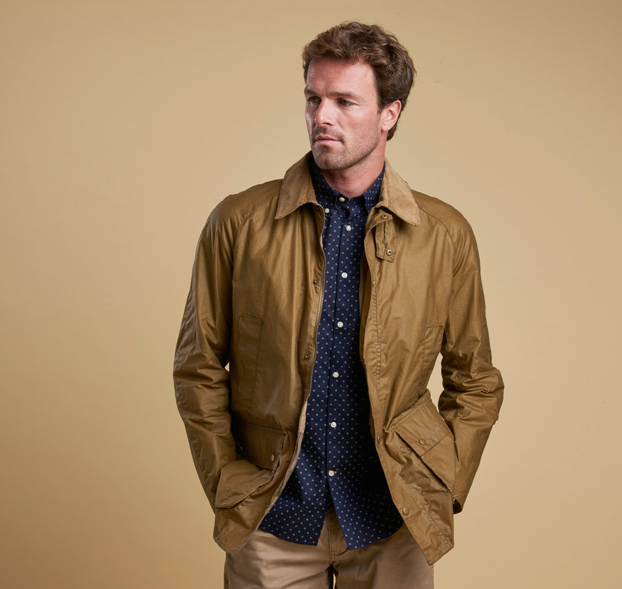 Barbour Lightweight Ashby Wax Jacket Sandstone