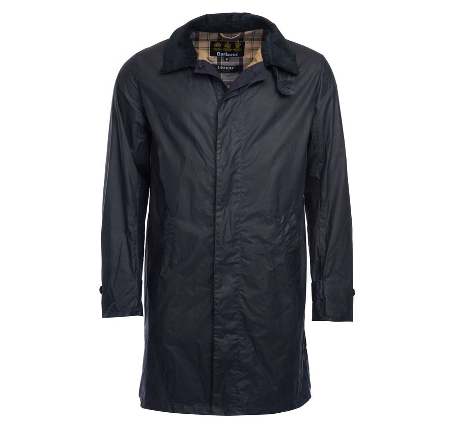 Barbour Lightweight Harrier Wax Jacket Navy
