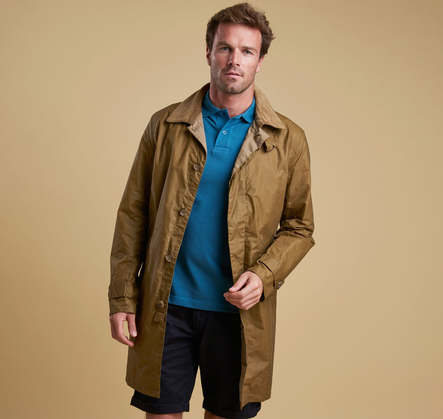 Barbour Lightweight Harrier Wax Jacket Sand