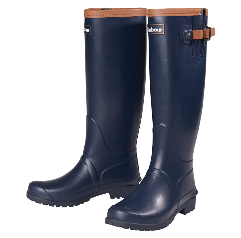 Barbour Blyth Wellington Boots Navy